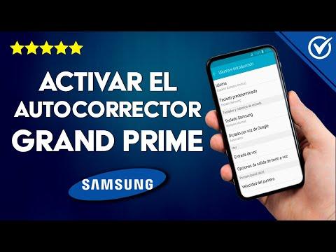 Cómo Activar o Desactivar el Autocorrector en Samsung Grand Prime