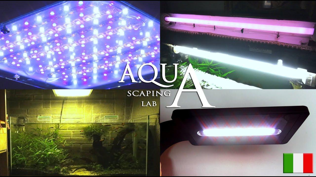 Plafoniera Led Per Acquario Acqua Dolce : Aquascaping lab illuminazione acquari acqua dolce neon