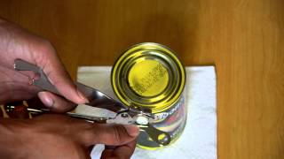 How to Open a Food CAN / TIN / Container using a cheap opener