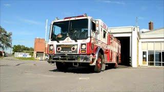 LAVAL QUEBEC 1989 MACK THIBAULT FIRE TRUCK START UP & RESPONSE