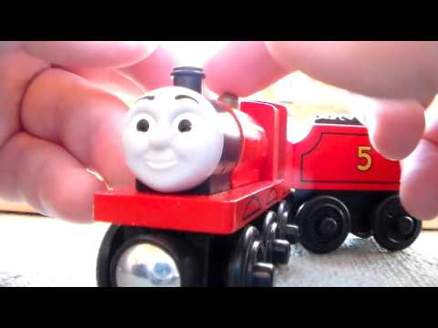 Wooden Railway Red and Black James Review