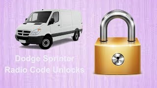 How To Find Dodge Sprinter Radio Code Using Serial No.