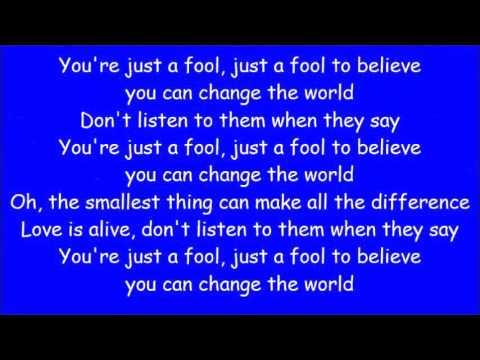 Carrie Underwood ~ Change  (Lyrics)