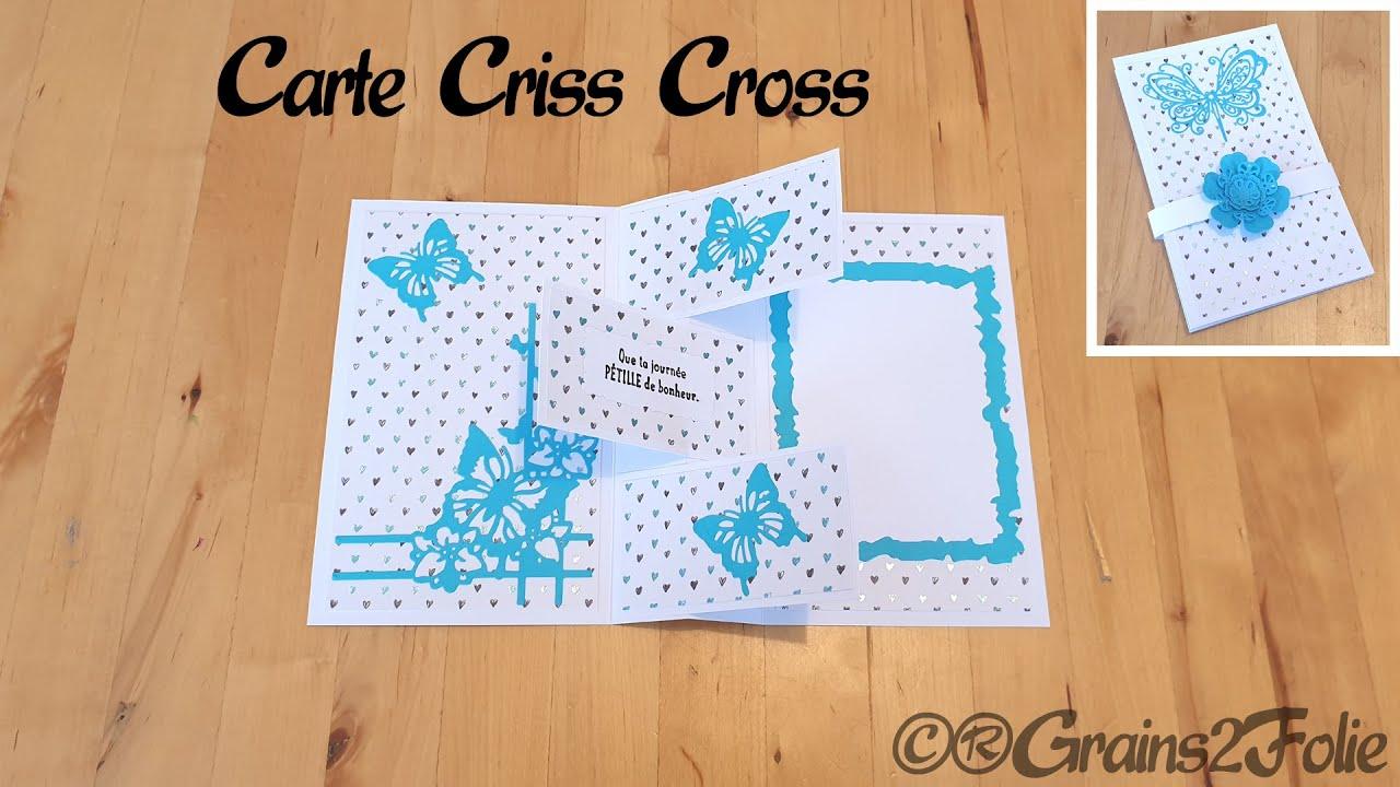 Tuto Scrapbooking - Carterie - Carte Criss Cross - Criss Cross Card