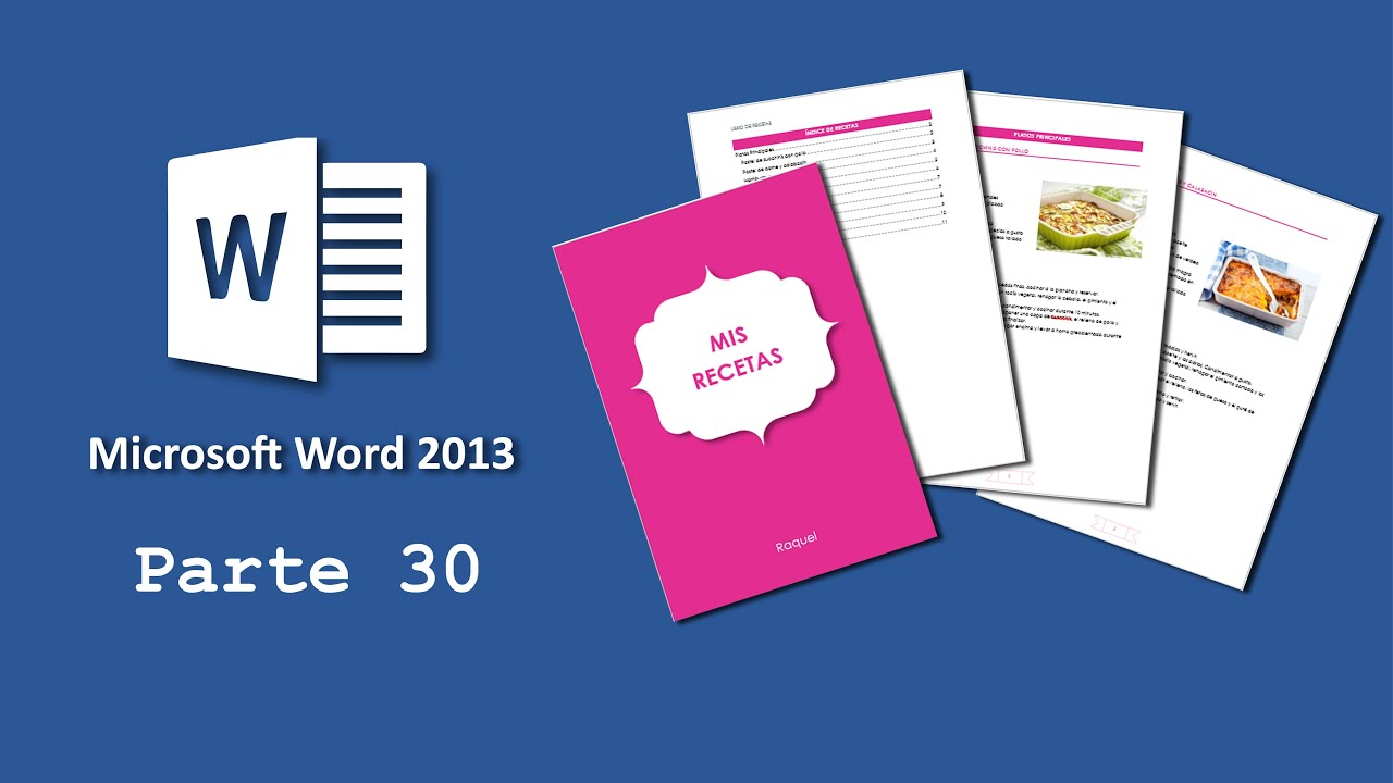 Microsoft Word 30) Crear un documento estilo libro - YouTube