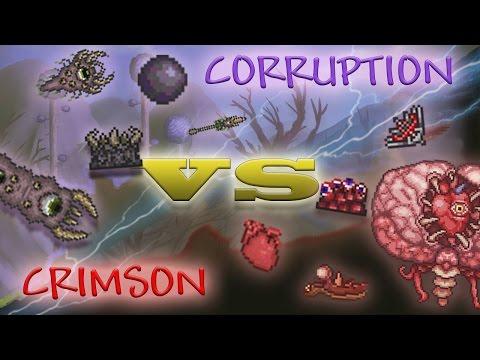 Corruption vs. Crimson // Guide & Comparison // Terraria 1.3.2