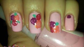 Как нарисовать розочки на ногтях