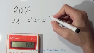 Cómo calcular el 20 por ciento -  Sacar Porcentajes de un número o cantidad thumbnail