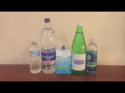 Jon Drinks Water #4948 Hᵀᵂᴼ Hydrogen Water VS Fiuggi VS Nestle Splash VS Avitae VS Iceland Spring Wa