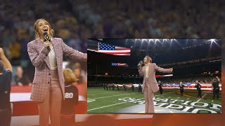 Lauren Daigle - National Anthem at the 2020 College Football Playoff National Championship