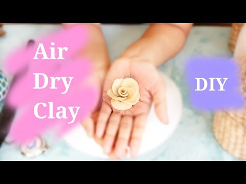 DIY Air dry clay   Make your own easy clay with flour for crafting