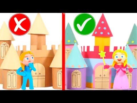 OLD CASTLE VS FASHION CASTLE 鉂� SUPERHERO PLAY DOH CARTOONS FOR KIDS