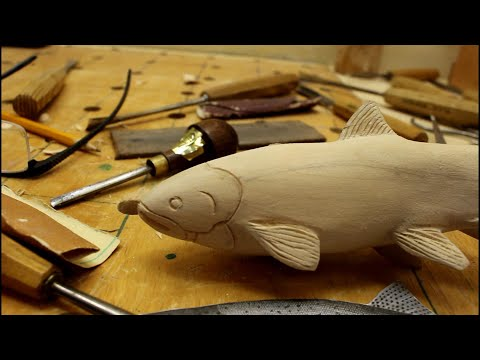 Hand Carving A Fish