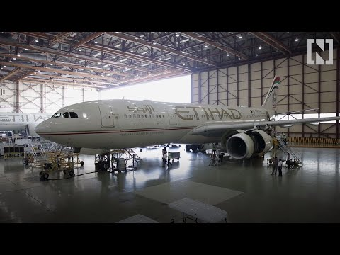 A look inside Etihad Airways Engineering's aircraft maintenance facility