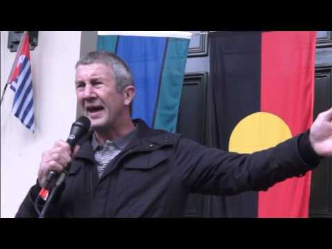 Kevin Bracken MUA Speaking At Original Nations Passport Ceremony