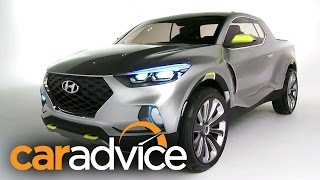 Hyundai Santa Cruz Ute Design Interview : NAIAS Detroit Motor Show 2015