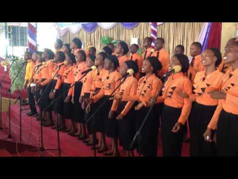 The Lord's Chosen Campus choir ministering at the 14 years anniversary of the Lord's Chosen