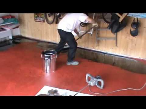 Epoxid Beschichtung Garage 2k Youtube