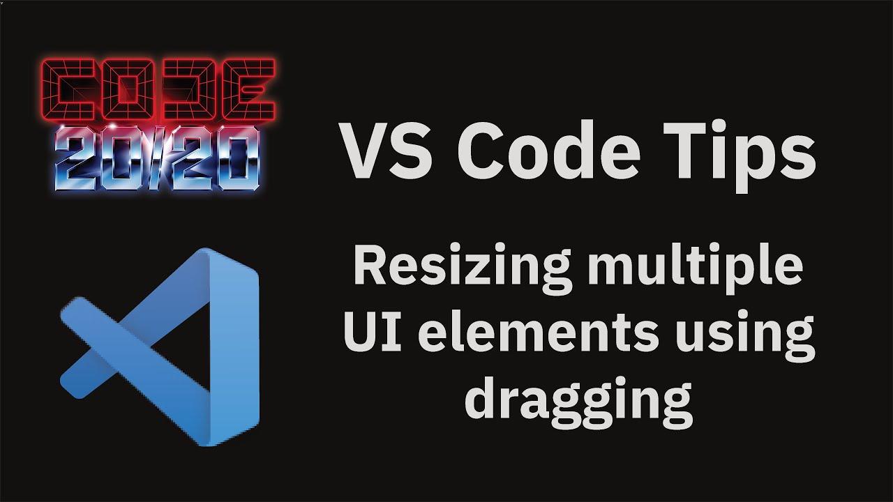 Resizing multiple UI elements using dragging