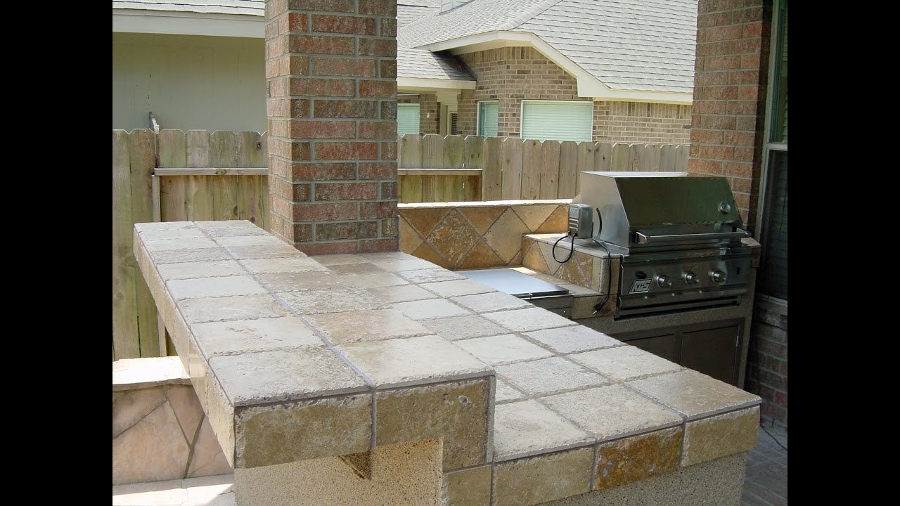 Small Outdoor Kitchen  YouTube