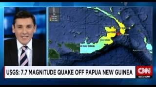 7 5 magnitude earthquake in Papua New Guinea 05 May 2015