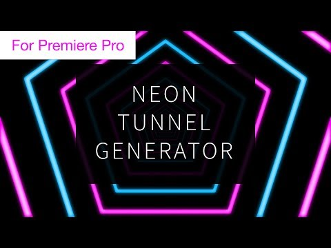 Neon Tunnel Loop Generator - Motion Graphics Template