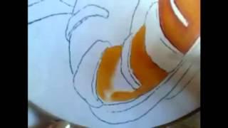 Pintura en tela rosca de reyes # 1 con cony