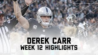Derek Carr Goes Off for 315 Yards & 2 TDs | Panthers vs. Raiders | NFL Week 12 Player Highlights