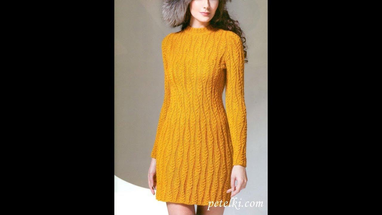 вязаные платья спицами 2019 Knitted Dresses With Knitting Needles
