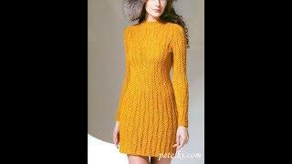 Вязаные Платья Спицами 2019 / Knitted Dresses with Knitting Needles / Strickkleider mit Stricknadeln