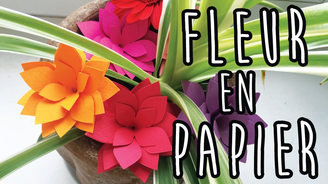 Deco 3 Fleurs En Papier Faciles Youtube