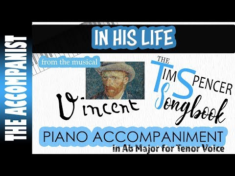 In His Life - from the musical 'Vincent' - Piano Accompaniment - Karaoke