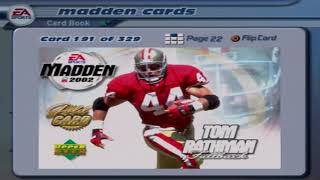 Madden NFL 2002 Intro and Cards