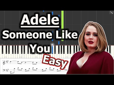 Adele - Someone Like You (EASY Piano Cover Tutorial with Sheet Music)