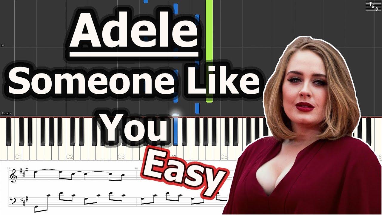 Adele someone like you easy solo piano cover tutorial sheet adele someone like you easy solo piano cover tutorial sheet music baditri Image collections