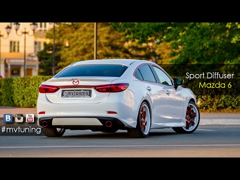 sport diffuser for mazda 6 by mv tuning installation guide youtube. Black Bedroom Furniture Sets. Home Design Ideas