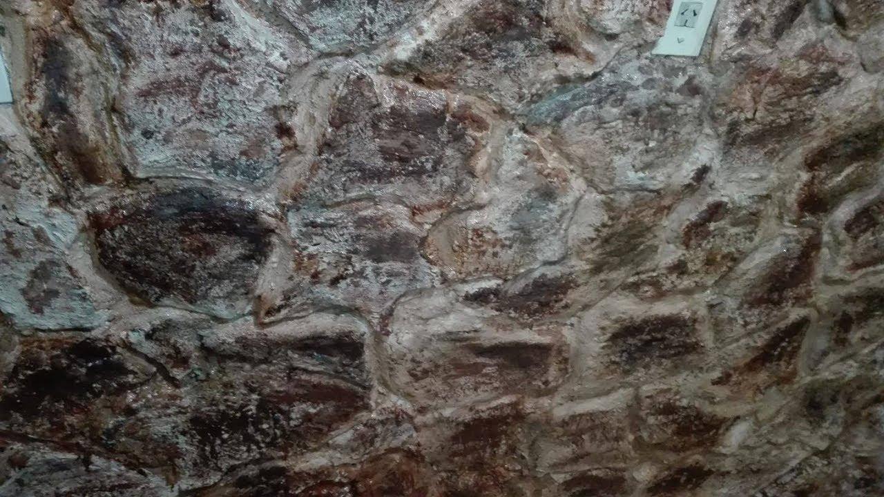 Pared imitacion piedra con telgopor pulioretano expandido - Imitacion piedra pared ...