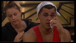 Big Brother 19 - Josh breaks down crying after the fight with Jess and Cody