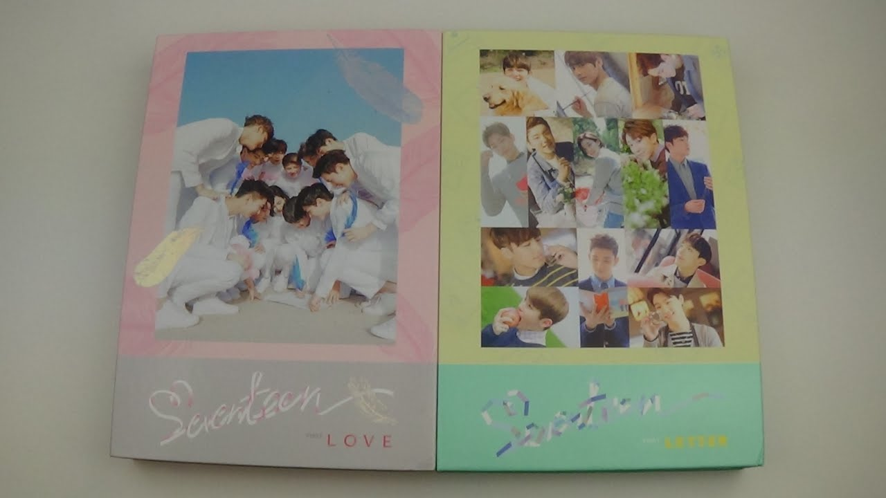 Unboxing Seventeen First Studio Album Love Letter Both Versions