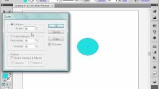 Изменение масштаба в Adobe Illustrator CS4 (17/39)