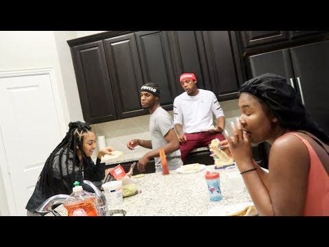 I COOKED FOR THE WHOLE FAMILY!!! Ft. Queen Naija, Ar'mon and Trey
