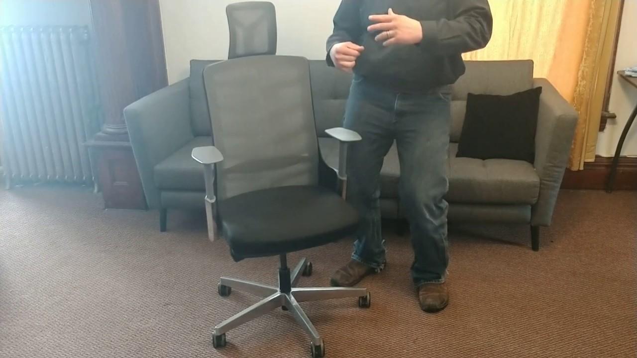 Uplift Desk Vert Ergonomic Office Chair Review Youtube