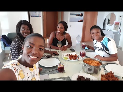Nigerian Food Mukbang|Lunch With Namibian And Angolan Friends|Girly Chit Chat