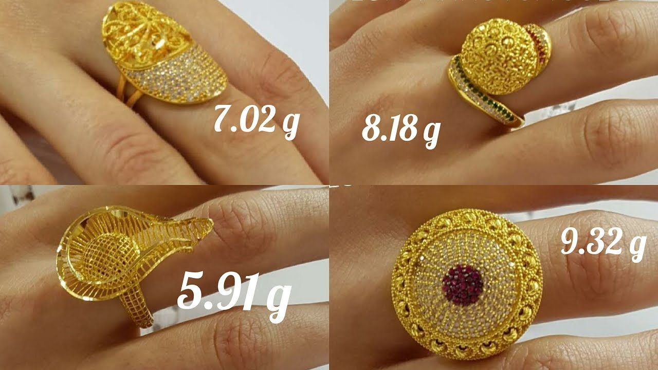 Stylish Gold Rings Designs With Weight #1