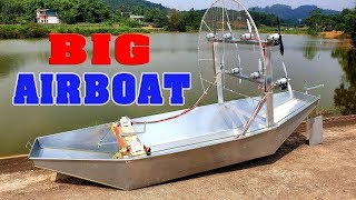 How to make a Big Airboat Using v8 775 Motor