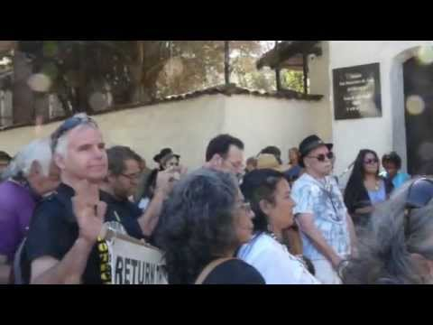 No Sainthood For Serra! Mission Dolores San Francisco 2015-09-23