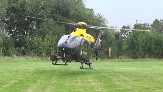 National Police Air Service - Eurocopter EC135 - G-HEOI - Sirens & taking off from Helimed06