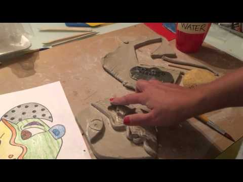 Picasso Portrait Clay Relief Demo