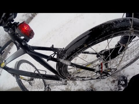 Studded Tires Bicycle Ride And Snow At The City Park Bike Blogger