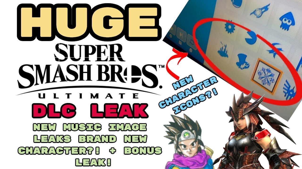 HUGE Smash Ultimate DLC Leak! NEW MUSIC IMAGE LEAKS BRAND NEW CHARACTER?! +  BONUS LEAK!